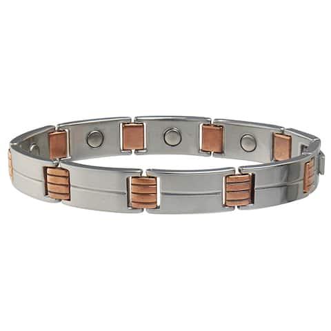 Sabona Magnetic Link Stainless/Copper Bracelet