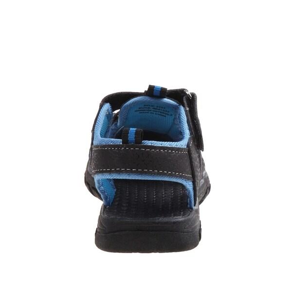 Black//Gray Rugged Bear Boys Sport Sandals 12 Toddler