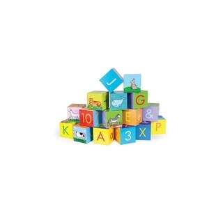 Jack Rabbit Creations Wooden ABC Blocks - Set of 16