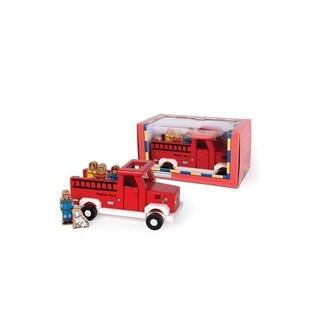 Jack Rabbit Creations Magnetic Wooden Fire Truck Set