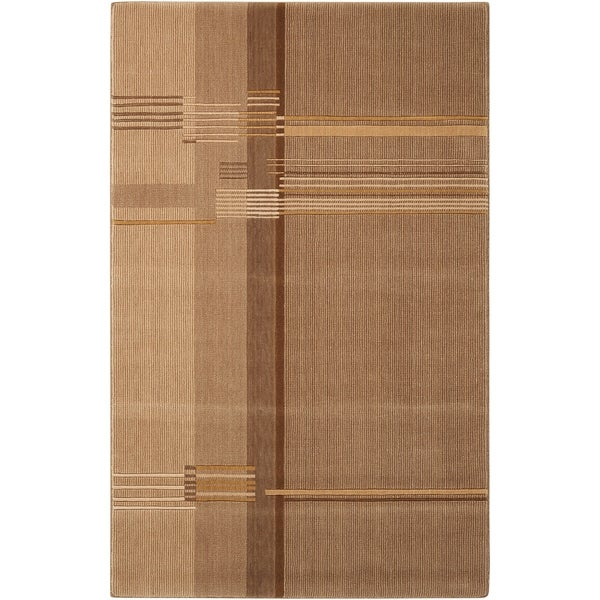 Calvin Klein Loom Select Oak Brown Area Rug by Nourison - 2' x 2'9""