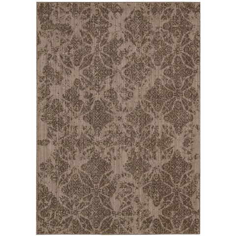 "Calvin Klein Urban Vetiver Brown Area Rug by Nourison - 2'6"" x 4'"