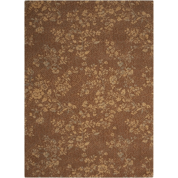 Calvin Klein Loom Select Pecan Brown Area Rug By Nourison 2 X27