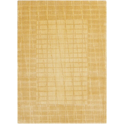 Calvin Klein New Patina Gold Area Rug by Nourison - 2' x 2'9""