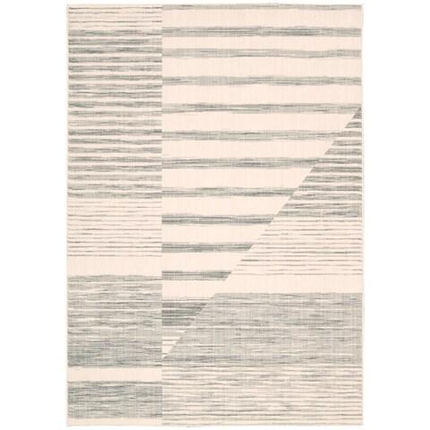 "Calvin Klein Urban Abalone Grey Area Rug by Nourison - 2'6"" x 4'"