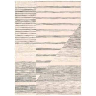 Calvin Klein Urban Abalone Grey Area Rug by Nourison - 2'6 x 4'