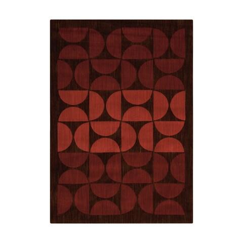 "Calvin Klein Metropolitan Russet Brown Area Rug by Nourison - 3'6"" x 5'6"""