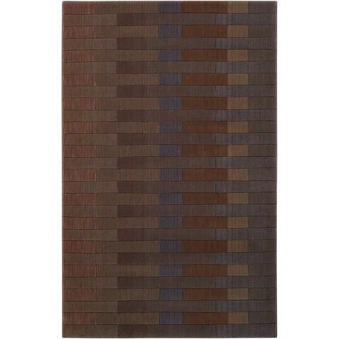 "Calvin Klein Loom Select Slate/Multi Area Rug by Nourison - 3'6"" x 5'6"""