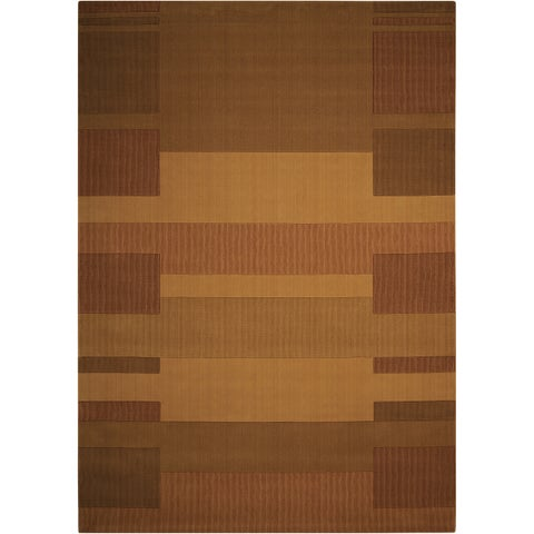 """Calvin Klein Loom Select Gold Area Rug by Nourison - 3'6"""" x 5'6"""""""