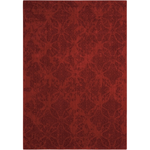 "Calvin Klein Urban Tikka Red Area Rug by Nourison - 3'6"" x 5'6"""