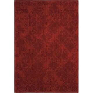 Calvin Klein Urban Tikka Red Area Rug by Nourison - 3'6 x 5'6'