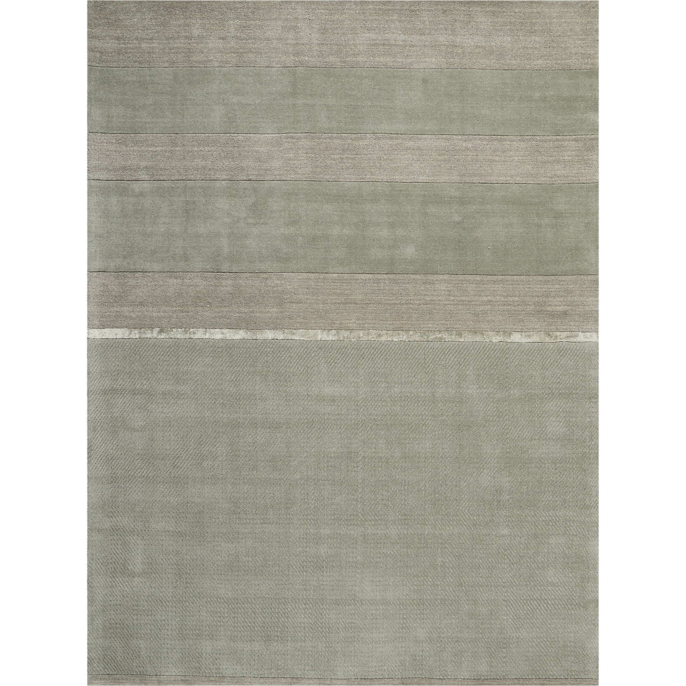 Calvin Klein Vale Handmade Grey Area Rug By Nourison 2 6 X 10