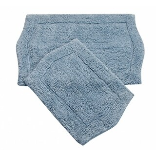 Waterford 2 Piece Bath Rug Set 21X34 24X40 BLUE
