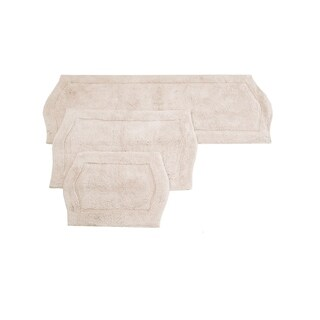 Waterford 3 Pc Bath Rug Set 17X24 21X34 22X60 Natural
