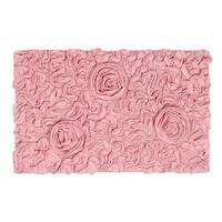 Bell flower bath rug 24x40 Pink