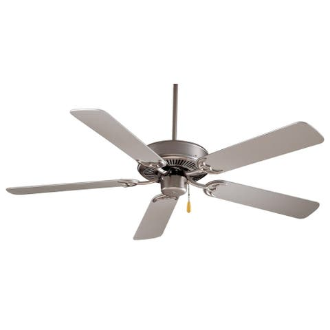 """Contractor 42"""" Ceiling Fan in Brushed Steel finish w/ Silver blades by Minka Aire"""
