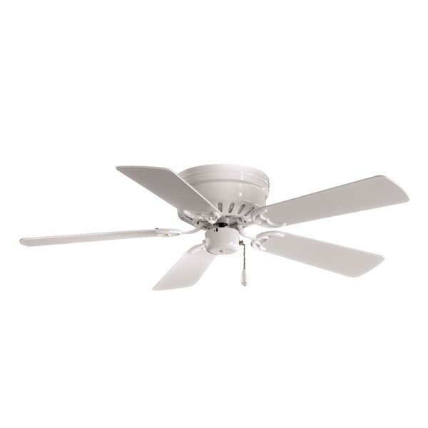 Mesa Ceiling Fan in White finish w/ White blades by Minka Aire (As Is Item)