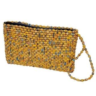 Handmade Paper Bead Acholi Wristlet Yellow (Uganda)