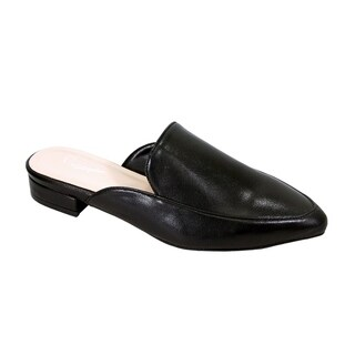 Peerage Maggie Women Wide Width Low Heel Pointed Toe Dress Mule