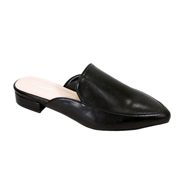 e8eeca2bbca6c Shop Peerage Maggie Women Wide Width Low Heel Pointed Toe Dress Mule ...