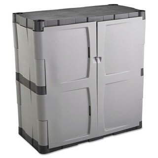 Rubbermaid Grey/Black Double-door Storage Cabinet (As Is Item)