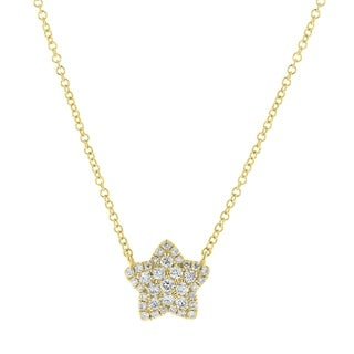 14kt Yellow Gold 1/3ct TDW Diamond Star Necklace