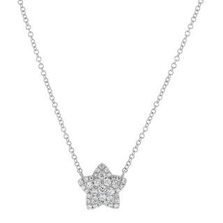 14kt White Gold 1/3ct TDW Diamond Star Necklace