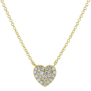 14kt Yellow Gold 1/3ct TDW Diamond Heart Necklace
