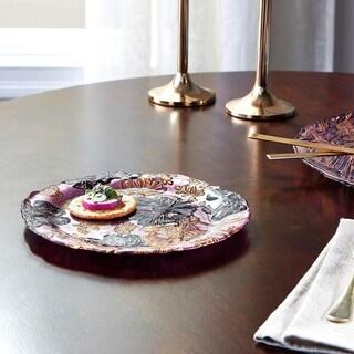 PAPILLON Rose Gold Black Side Plate