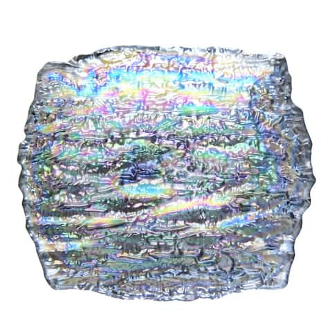 "ROMOS 7.5"" x 7"" Pearl Silver Dish"