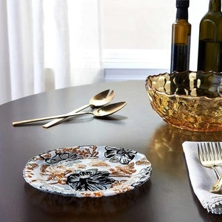 Link to PAPILLON Cream Gold Black Side Plate Similar Items in Dinnerware