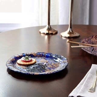PAPILLON Indigo Gold Black Side Plate