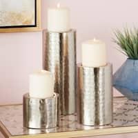 Carbon Loft Barry Set of 3 Polished Metal Candle Holders