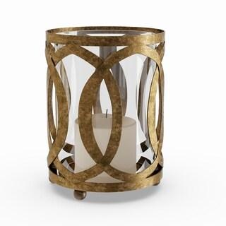 Gracewood Hollow Ella Metal, Glass 6-inch Wide x 8-inch High Candle Lantern