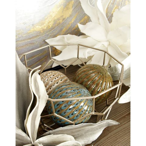 The Curated Nomad Gunnerman Ceramic 4-inch Decorative Balls (Set of 4)