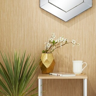 Carson Carrington Alavus Gold/Silver Metal Assorted Barrel-shaped Vases (Set of 2)