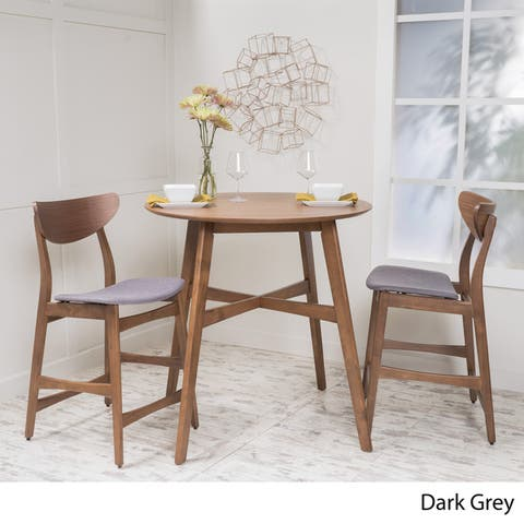 Carson Carrington Lund 3-piece Wood Counter-height Round Dining Set