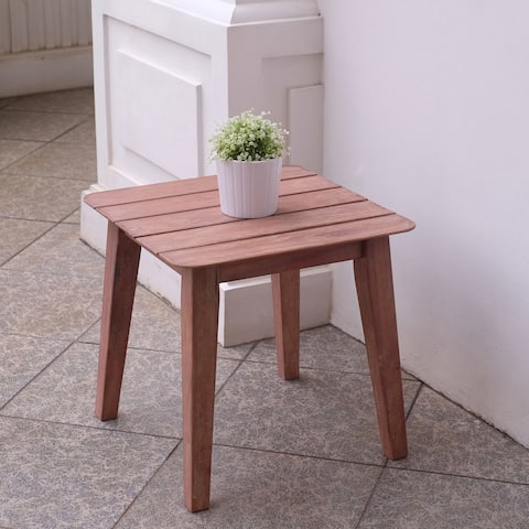 Rohoboth Mahogany Wood Side Table by Havenside Home