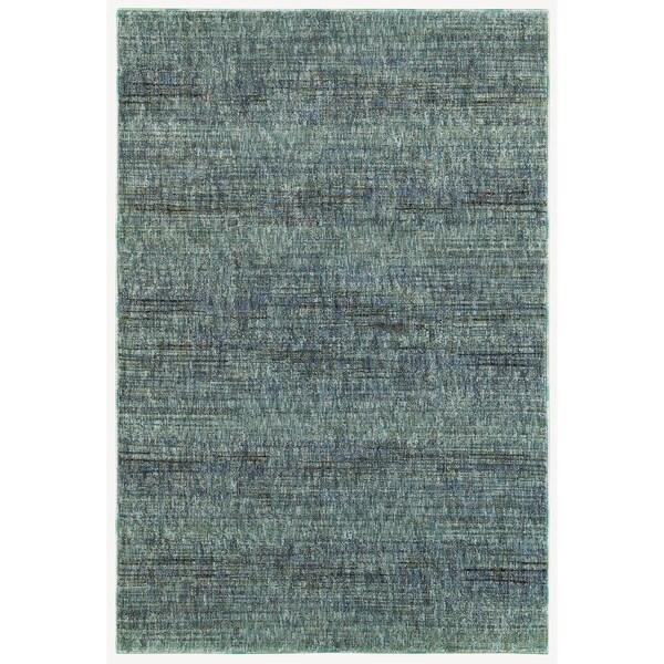 "Carson Carrington Skelleftea Tonal Textures Blue/Grey Area Rug - 5'3"" x 7'3"""