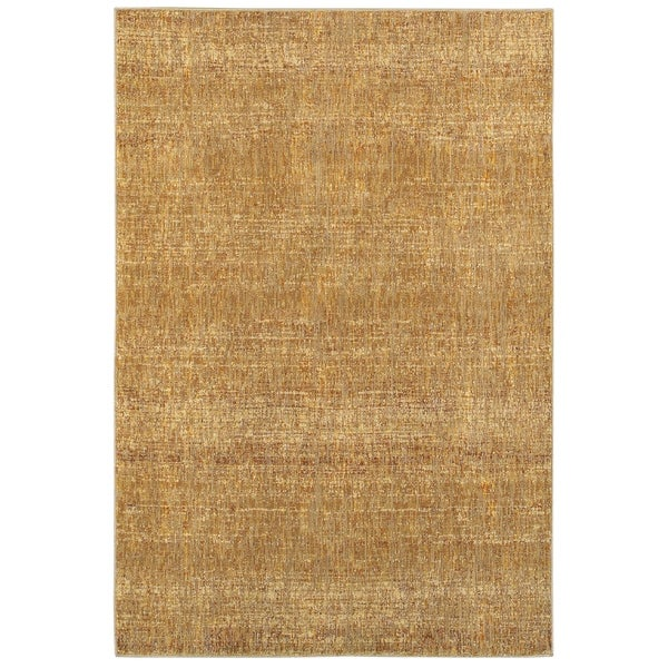 "Carson Carrington Skelleftea Tonal Textures Gold/Yellow Area Rug - 6'7"" x 9'6"""