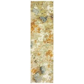 "Carson Carrington Albertslund Marble Gold/Beige Area Rug - 8'6"" x 11'7"""