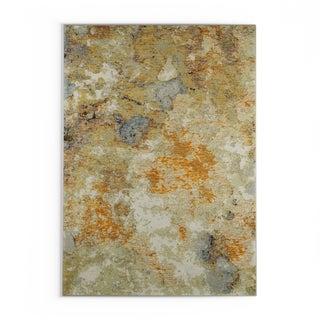 "Carson Carrington Albertslund Marble Gold/Beige Nylon Area Rug - 7'10"" x 10'10"""