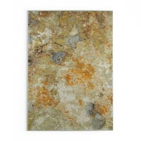 Carson Carrington Lohja Marble Gold/Beige Nylon Area Rug - 7'10 x 10'10