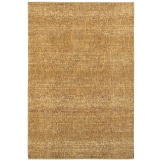 "Carson Carrington Skelleftea Tonal Textures Gold/ Yellow Area Rug - 8'6"" x 11'7"""