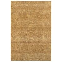 Carson Carrington Skelleftea Tonal Textures Gold/ Yellow Area Rug - 8'6 x 11'7