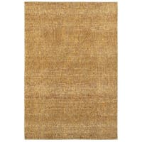 Carson Carrington Skelleftea Tonal Textures Gold/Yellow Area Rug - 7'10 x 10'10