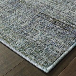 "Carson Carrington Skelleftea Tonal Textures Blue/Grey Area Rug - 1'10"" x 3'3"""