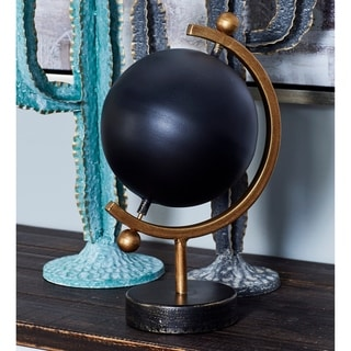 Carson Carrington Alavus 13 x 7 inch Contemporary Iron Black Globe