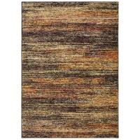 Carson Carrington Halden Textural Stripes Gold/ Charcoal Area Rug - 10' x 13'2