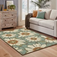 Copper Grove Boronia Blue/Brown Indoor-Outdoor Area Rug - 2'5 x 4'5